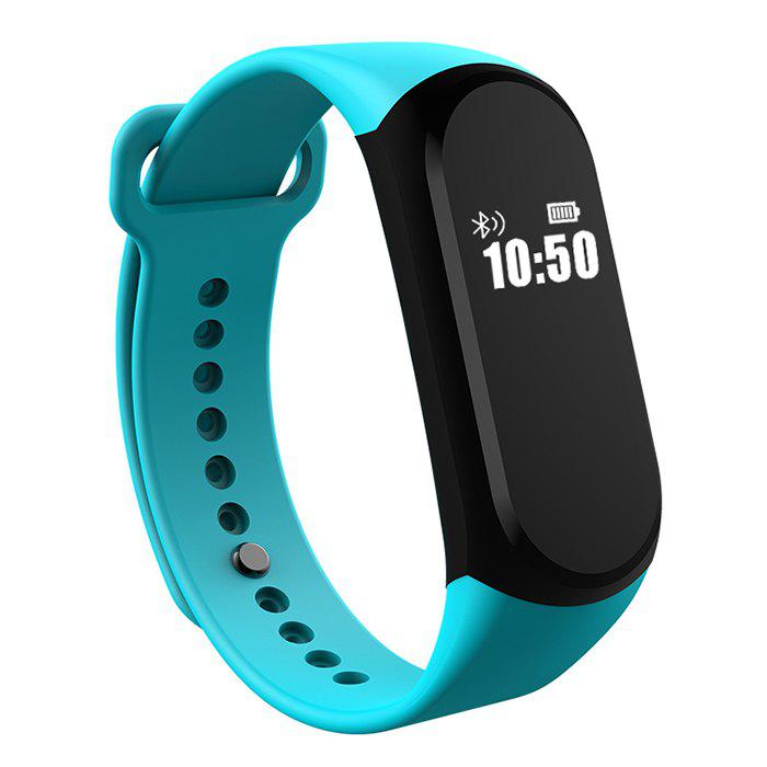 A16 BLE 4.0 ADI Sensor Heart Rate Smart Bracelet with Alarm 30 Days Standby Time - GREEN