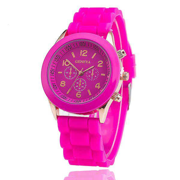 Adorn Silicone Digital Analog Watch - TUTTI FRUTTI