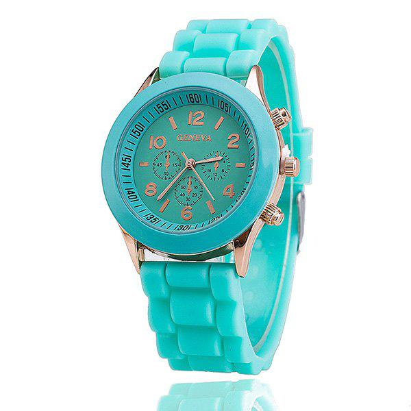 Adorn Silicone Digital Analog Watch - MINT
