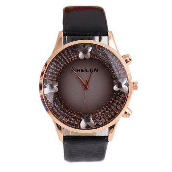 Faux Gem Butterfly Quartz Watch