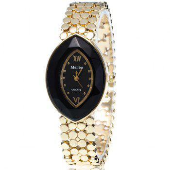 Oval Roman Numerals Dial Plate Watch
