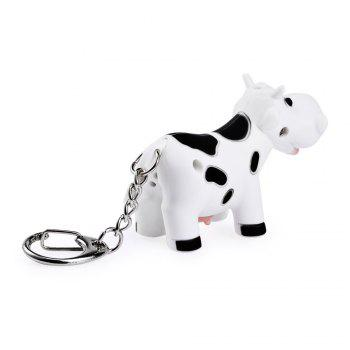 Ox Style Key Chain Hanging Pendant ABS Voice LED Light Control Bag Decoration -  WHITE