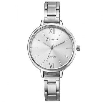 Embellished Big Dial Plate Roman Numerals Watch