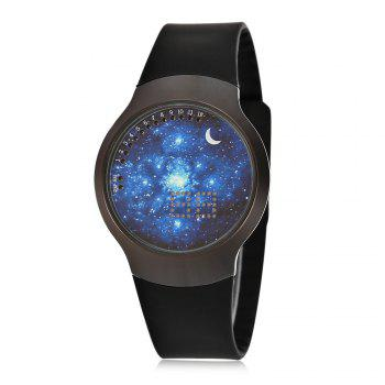 Jijia Fashion LED Touch Screen Watch with Sky Pattern Dial