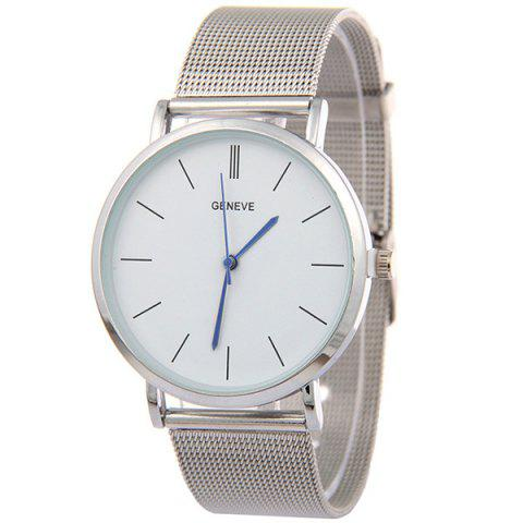 Vintage Adorn Steel Quartz Watch - SILVER