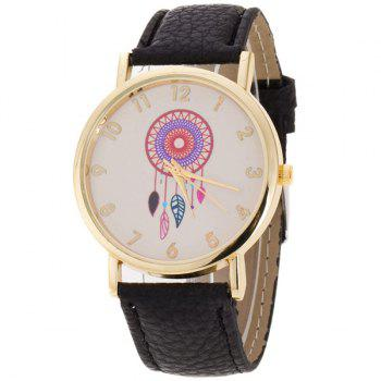 PU Leather Feather Dream Catcher Watch
