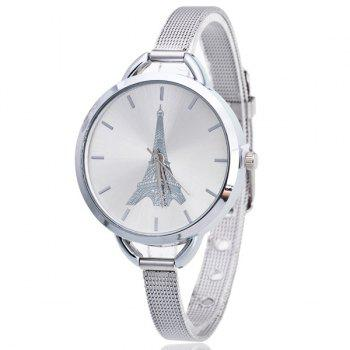 Vintage Eiffel Tower Pattern Quartz Watch