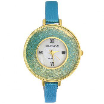 Faux Leather Roman Numerals Beads Watch