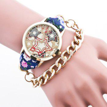 Vintage Star Flower Bracelet Watch
