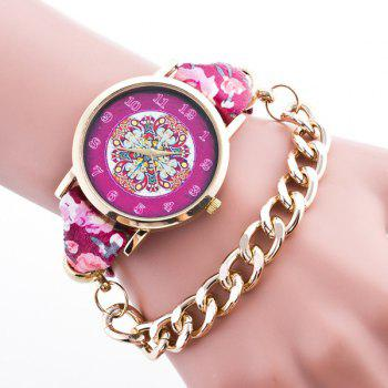 Bohemian Adorn Flower Quartz Bracelet Watch