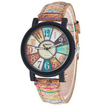 Vintage PU Leather Quartz Watch