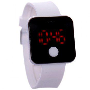 LED Digital Watch - WHITE WHITE