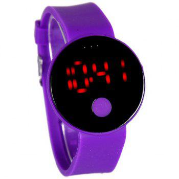 Round LED Digital Watch