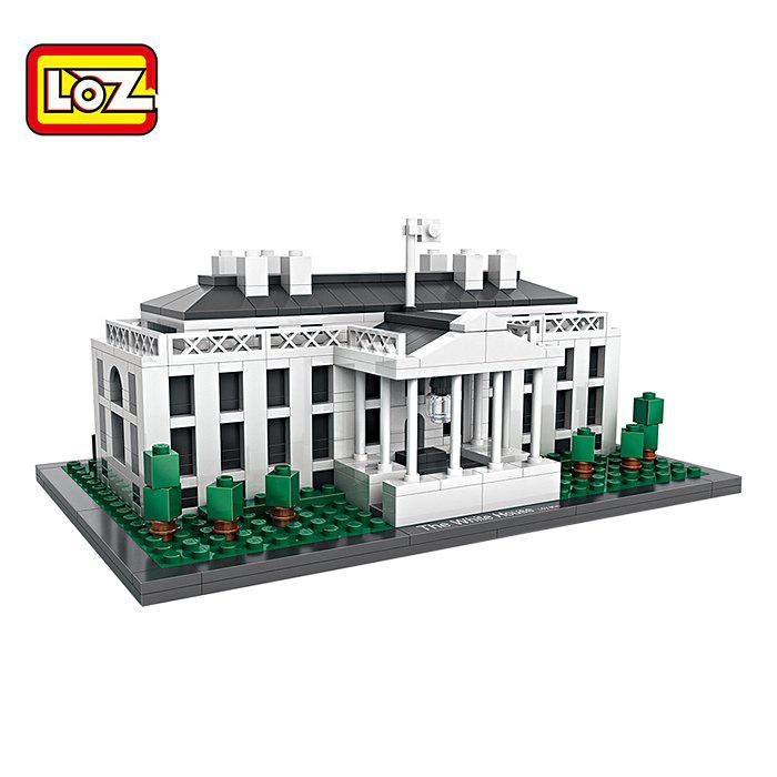 LOZ ABS Architecture Building Block Educational Movie Product Kid Toy - 588pcs loz building blocks educational toys kids merlion park statue singapore fountain mini street view architecture toys brick 1020