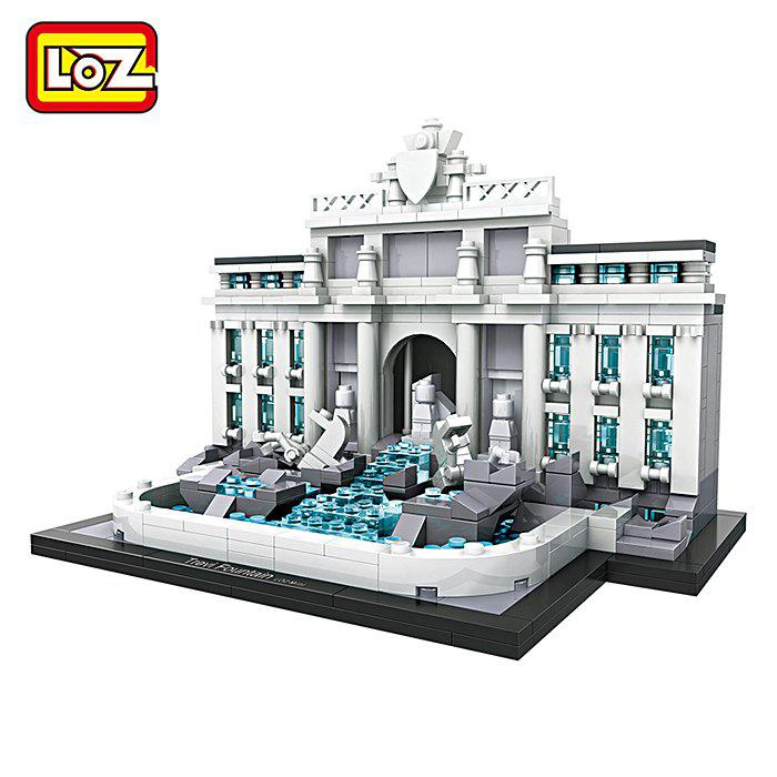 LOZ ABS Architecture Building Block Educational Movie Product Kid Toy - 677pcs loz building blocks educational toys kids merlion park statue singapore fountain mini street view architecture toys brick 1020