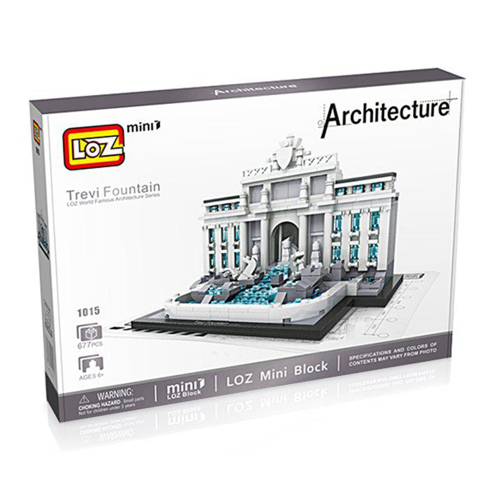 LOZ ABS Architecture Bloc de Construction de Film Educatif produit Jouet d'enfant - 677pcs - multicolorcolore