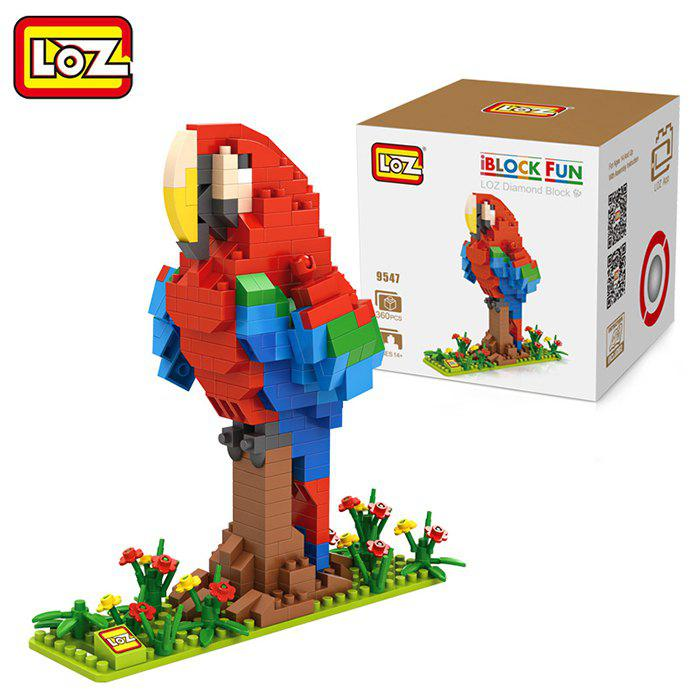 LOZ ABS Animal Building Block Educational Movie Product Kid Toy - 360pcs - COLORMIX