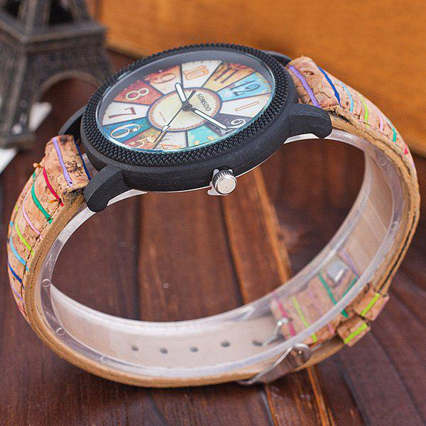 Vintage PU Leather Quartz Watch - BROWN