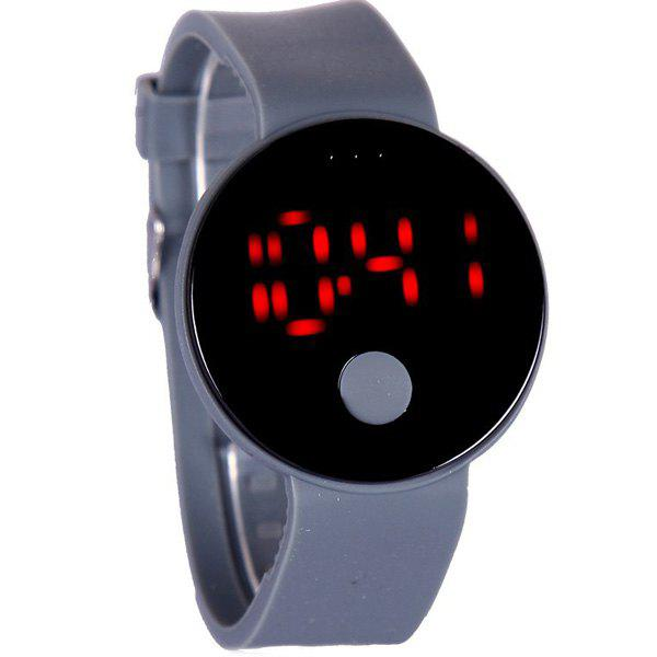 Round LED Digital Watch - GRAY