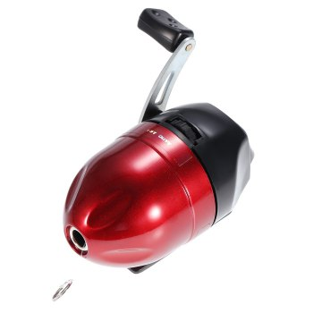 Fish Tackle Closed Face Spinning Fishing Reel with Line -  RED