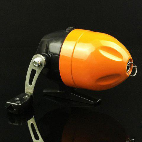 Fish Tackle Closed Face Spinning Fishing Reel with Line - ORANGE