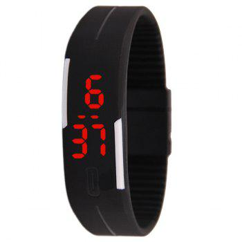 LED Digital Sport Wristband Silicone Watch