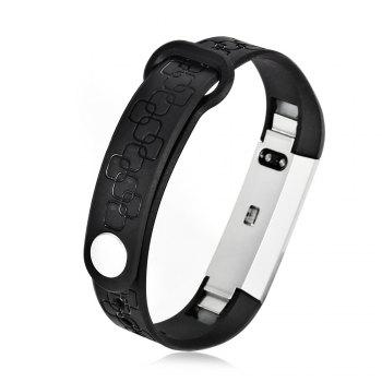 M1 Heart Rate Smart Wristband with Information Pushing Bidirectional Anti-lost Function -  BLACK