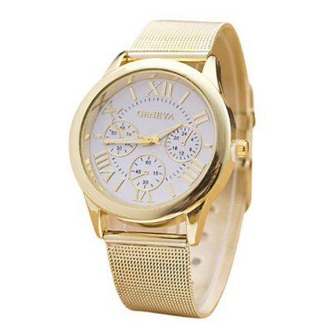Analog Roman Numerals Alloy Quartz Watch - WHITE