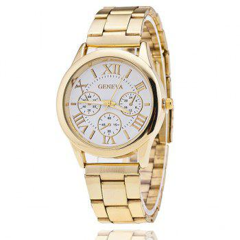 Steel Band Roman Numerals Watch