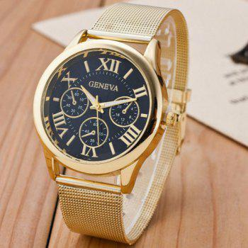 Analog Roman Numerals Alloy Quartz Watch