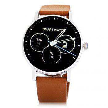SMA - 09 Heart Rate Monitor Smart Watch with Alarm Phonebook Voice Record - BROWN BROWN