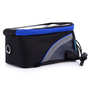 ROSWHEEL D12496L 1.8L Touch Screen Bicycle Font Tube Bag Colorful Strap Handlebar Pouch Cycling Accessories - BLUE