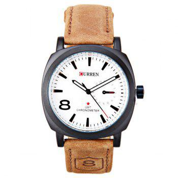 Faux Leather Cloth Watch