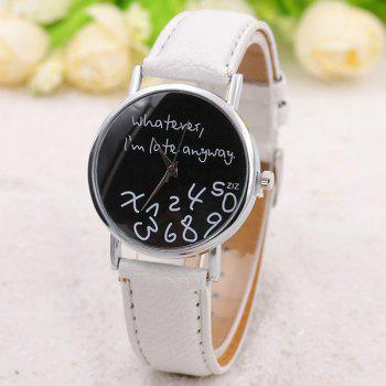 Whatever Printed PU Leather Watch