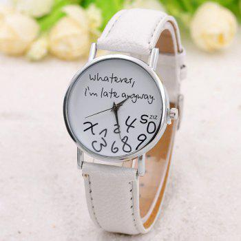 Whatever Dial PU Leather Watch