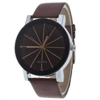 Geometric Ray PU Leather Watch