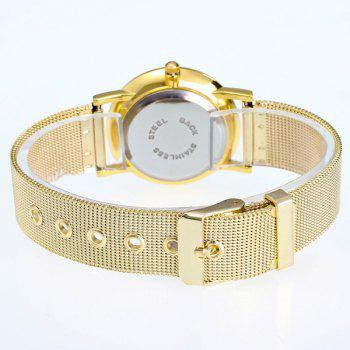 Moon Reflected Dial Stainless Steel Watch - GOLDEN