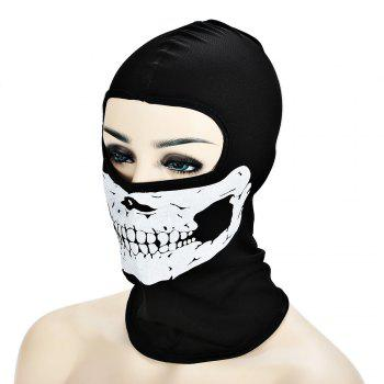 Outdoor Cycling Skull Mask CS Game Face Guard Riding Headgear -  BLACK