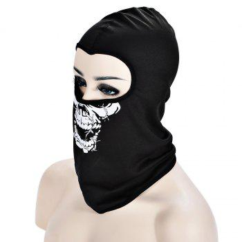Outdoor Cycling Skull Mask CS Game Face Guard Riding Headgear -  LAVA BLACK