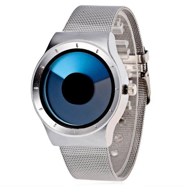 Turntable Stainless Steel Quartz Watch - BLUE