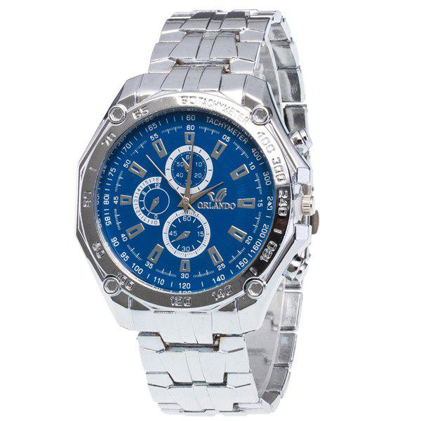 Analog Stainless Steel Quartz Watch - BLUE