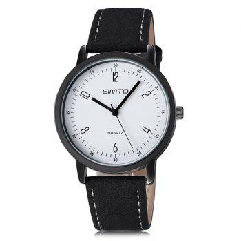 Faux Leather Cloth Wrist Watch
