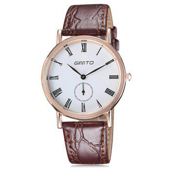Roman Numerals PU Leather Watch