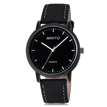 Faux Leather Cloth Quartz Watch