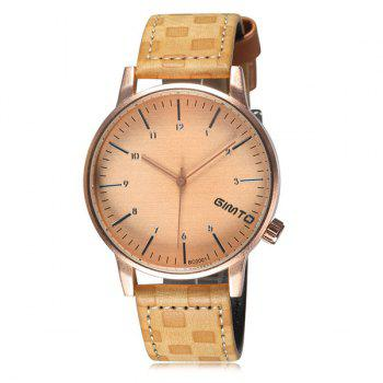 Vintage Quartz PU Leather Wrist Watch