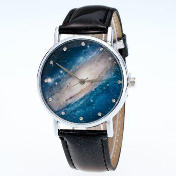Milky Way Dial PU Leather Watch
