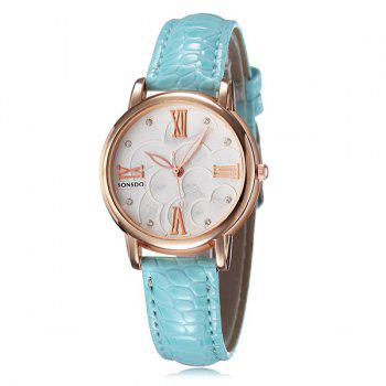 Roman Numerals Rhinestone PU Leather Watch