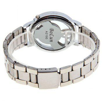 Stainless Steel Music Note Dial Watch - SILVER