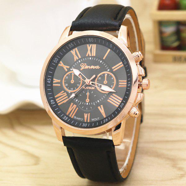 Big Dial Plate PU Leather Watch big dial plate artificial leather watch