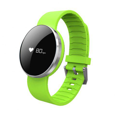 UW1 Dynamic Heart Rate Monitor Smart Wristband with Real-time Pedometer - GREEN